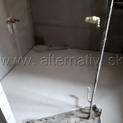 kúpelka vyrovnanie podlahy niveláciou