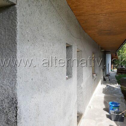 oprava fasády vidiecky dom