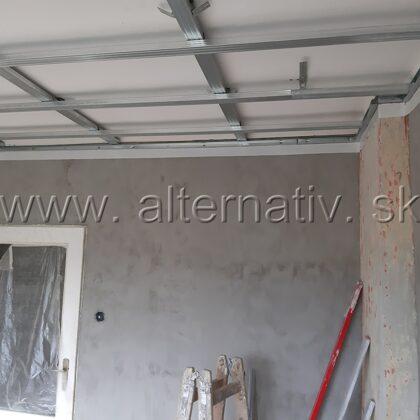 zníženie stropu v izbe sadrokartónom